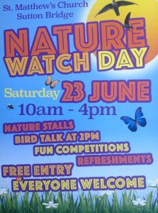 Nature Watch Day 10am- 4pm on Saturday 23 June